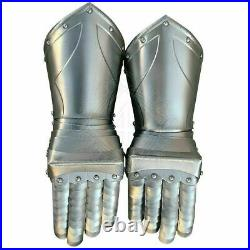 18G Medieval Pair of Finger Frix Guantlets Knight Armor Gloves Cuirass Costume