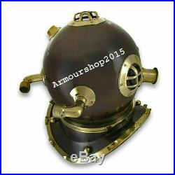 Antique Diving Divers Helmet Solid Steel U. S Navy awesome Christmas costumes