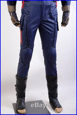 Avengers Captain AmericaCivil War Steve Rogers Cosplay Costume Army Outfit Suit