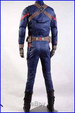 Avengers Captain AmericaCivil War Steve Rogers Cosplay Costume Army Suit Outfit