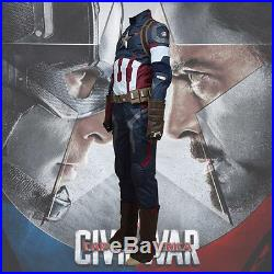 Avengers Captain AmericaCivil War Steve Rogers Cosplay Costumes Outfit Uniform