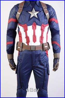 Avengers Captain AmericaCivil War Steve Rogers Halloween Coaplay Costume Outfit