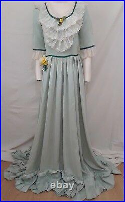CIVIL WAR Long Dress Costume FRILLY Southern Belle Festival Theatre Maiden S M
