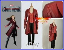 CaptainAmerica 3Civil War Leather Wanda Maximoff Scarlet Witch Cosplay Costume