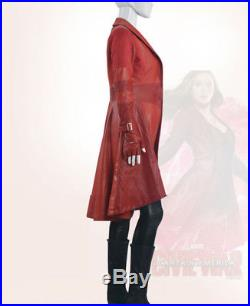 Captain America 3 Civil War Scarlet Witch Wanda Maximoff Cosplay Costume Outifit