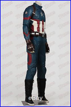 Captain America 3 Civil War Steven Rogers Cosplay Costume Outfit Custom Made