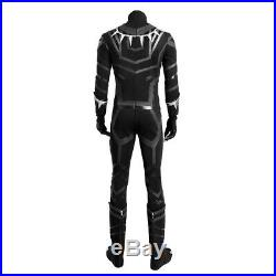 Captain America Civil War Black Panther Cosplay Costume Deluxe Leather Outfit