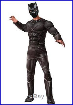 Captain America Civil War Black Panther Deluxe Muscle Adult Costume NEW 810969