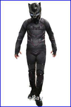 Captain America Civil War Black Panther Suit Mens Outfit Cosplay Costume Xcoser