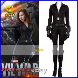 Captain America Civil War Black Widow Halloween Cos Jump Suits Tightsuits Suits