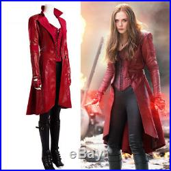 Captain America Civil War SCARLET WITCH Cosplay Long Coat Full Set Costume New