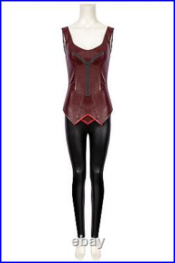 Captain America Civil War Scarlet Witch Wanda Maximoff Cosplay Costume Outfit