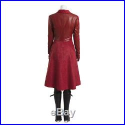 Captain America Civil War Scarlet Witch Wanda Maximoff Cosplay Costume Outfits