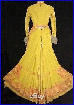 Civil War Western Frontier 1880s 4 Pc Period Gown Western Costume Company