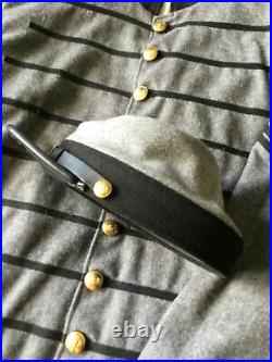 Confederate 1st Virginia Cavalry ACW Wool Shell Jacket size 58 and Kepi XL