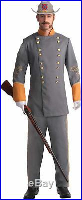 Confederate Officer Adult Men's Costume Gray Double Breasted Jacket Civil War