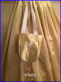 Edwardian/Victorian 19th Century Ball Gown Custom made in Gold PLEASE READ
