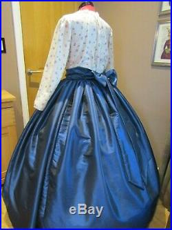 LADIES VICTORIAN/DICKENSIAN/CIVIL WAR STYLE COSTUME Approx size UK 16 (ref 222)