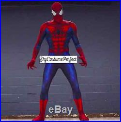 MUST SEE Civil War 2016 Movie Spiderman Peter Parker Costume Cosplay FREE SHIP