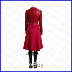 Marvel Captain America Civil War Scarlet Witch Outfit Full Set Costume Cosplay