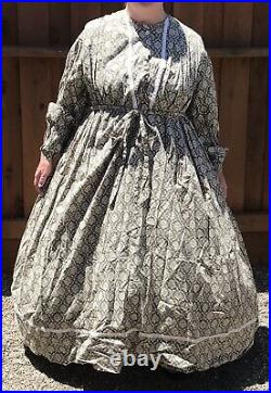 Misses Reenacting Camp / Town Dress Approx. Size 14 CIVIL War, 1800s, Cosplay