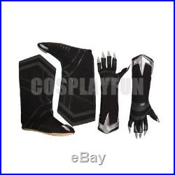 New Captain America Civil War T'Challa Black Panther Cosplay Costume