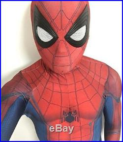 New Movie The Civil War Spider-Man 3D Printing with Muscle Shading Costume HOT