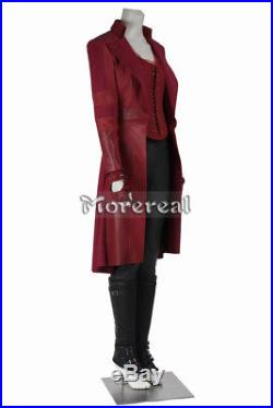 Scarlet Witch Wanda Maximoff Cosplay Captain America 3 Civil War Costume Red Set