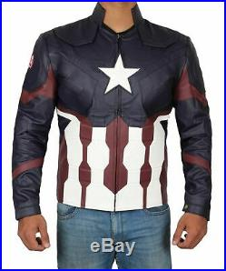 Steve Rogers Captain America Civil War Costume Jacket with Free Shipping
