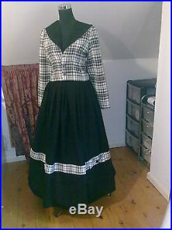 Victorian American CIVIL War Tartan Walking Out Suit Made To Measure