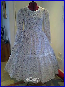 Victorian American CIVIL War/theatre Floral Dress Any Size