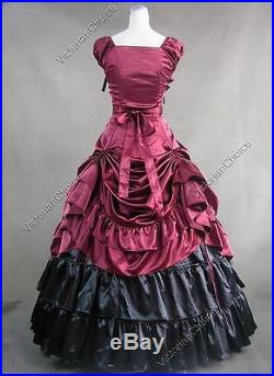 Victorian Southern Belle Civil War Dress Gown Reenactment Theater Clothing 270