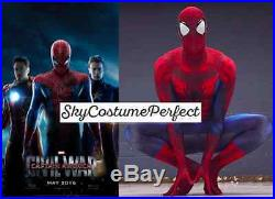 WOW NEW Civil War 2016 Movie Spiderman Peter Parker Costume Cosplay FREE SHIP A+