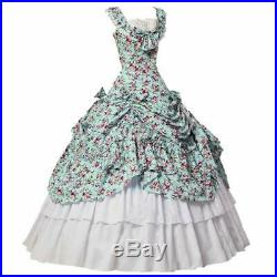 Women Gothic Victorian Dress Civil War Southern Belle Tea Party Ball Gown Cos