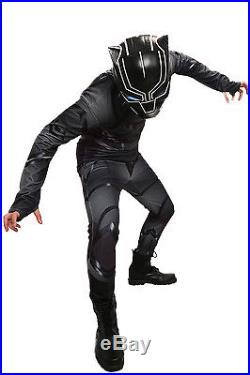 XCOSER Black Panther Costume for Film Civil War Cosplay Jumpsuits Costume