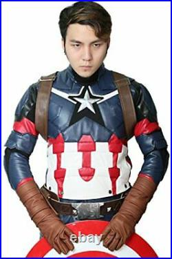 XCOSTUME Civil War Cosplay Steven Rogers Battle Outfit Large173-177cm Costume